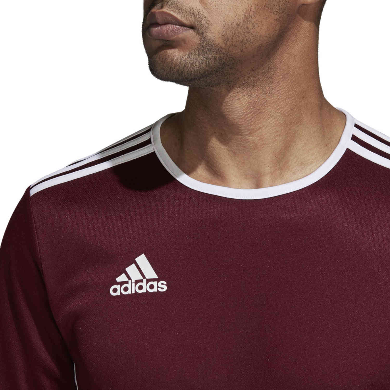 adidas Entrada 18 Jersey - Maroon - SoccerPro