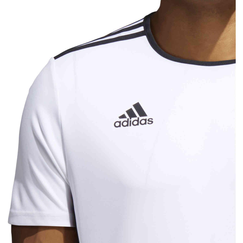 adidas Entrada 18 Jersey - White - SoccerPro