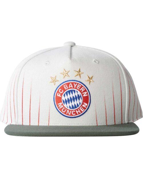 Bayern Munich Flat Cap – Crystal White/Cinder