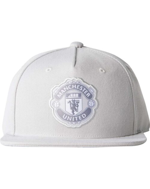 Manchester United Flat Cap – LGH Solid Grey/White