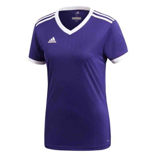 Womens adidas Tabela 18 Jersey – Collegiate Purple/White