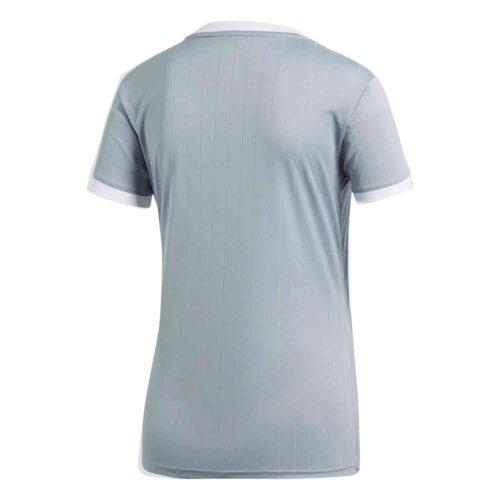 Womens adidas Tabela 18 Jersey – Light Grey/White
