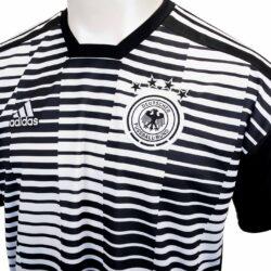 e0720bcc2b0 adidas Germany Pre-match Jersey - White   Black - SoccerPro.com