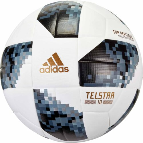 adidas Telstar 18 World Cup Top Replique Soccer Ball – White/Metallic Silver