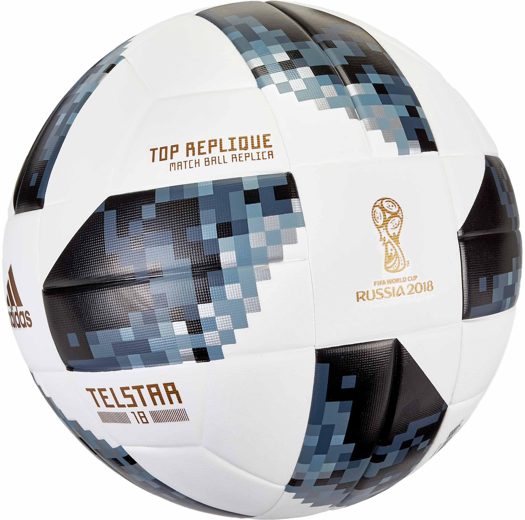 d01110954 adidas Telstar 18 World Cup Top Replique Soccer Ball – White/Metallic Silver