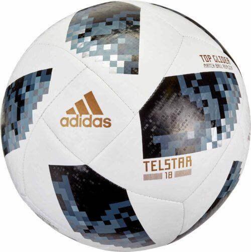 adidas Telstar 18 World Cup Top Glider Soccer Ball – White/Metallic Silver