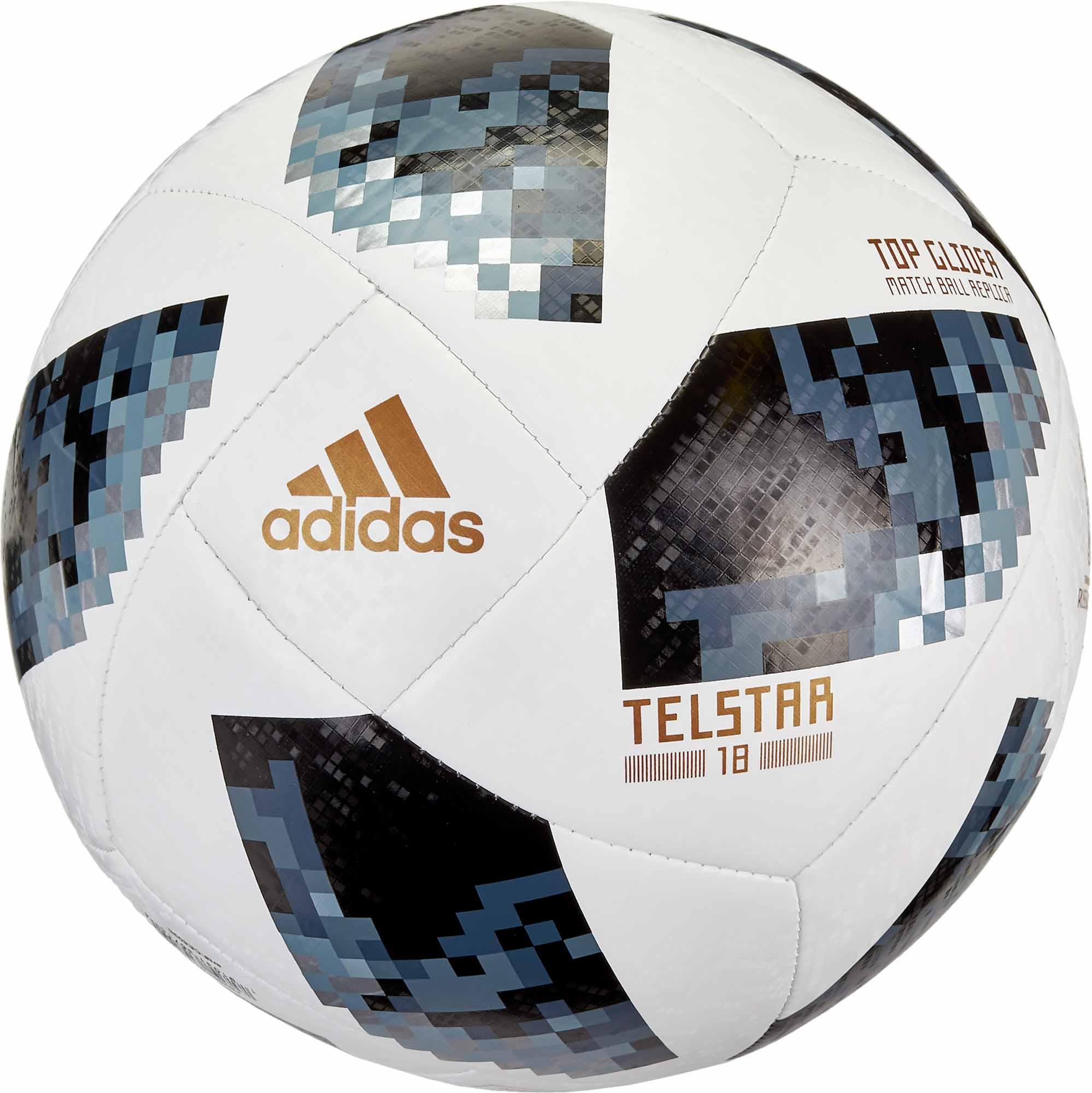 adidas Telstar 18 World Cup Top Glider Soccer Ball – White Metallic Silver 142942c44d