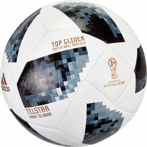 adidas Telstar 18 World Cup Top Glider Soccer Ball – White/Metallic Silver