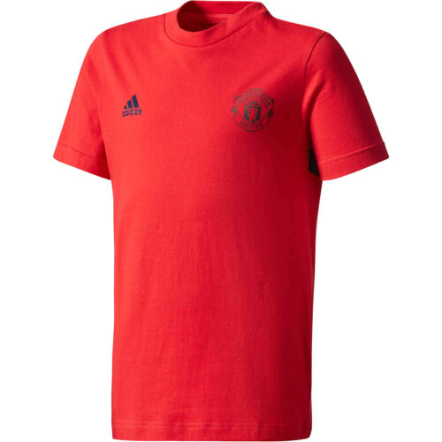adidas Kids Manchester United Tee – Real Red