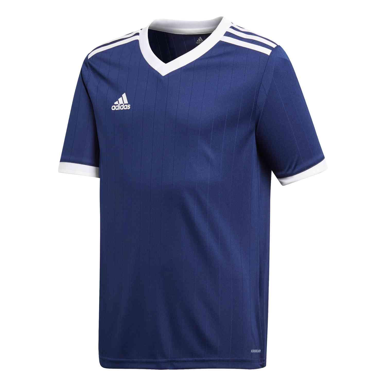 Kids adidas Tabela 18 Jersey - Dark Blue/White - SoccerPro