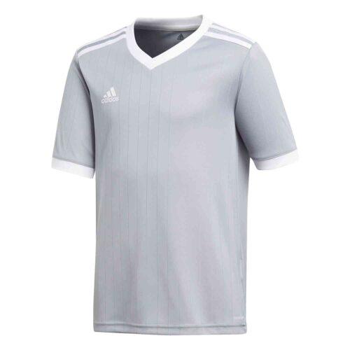 Kids adidas Tabela 18 Jersey – Light Grey/White