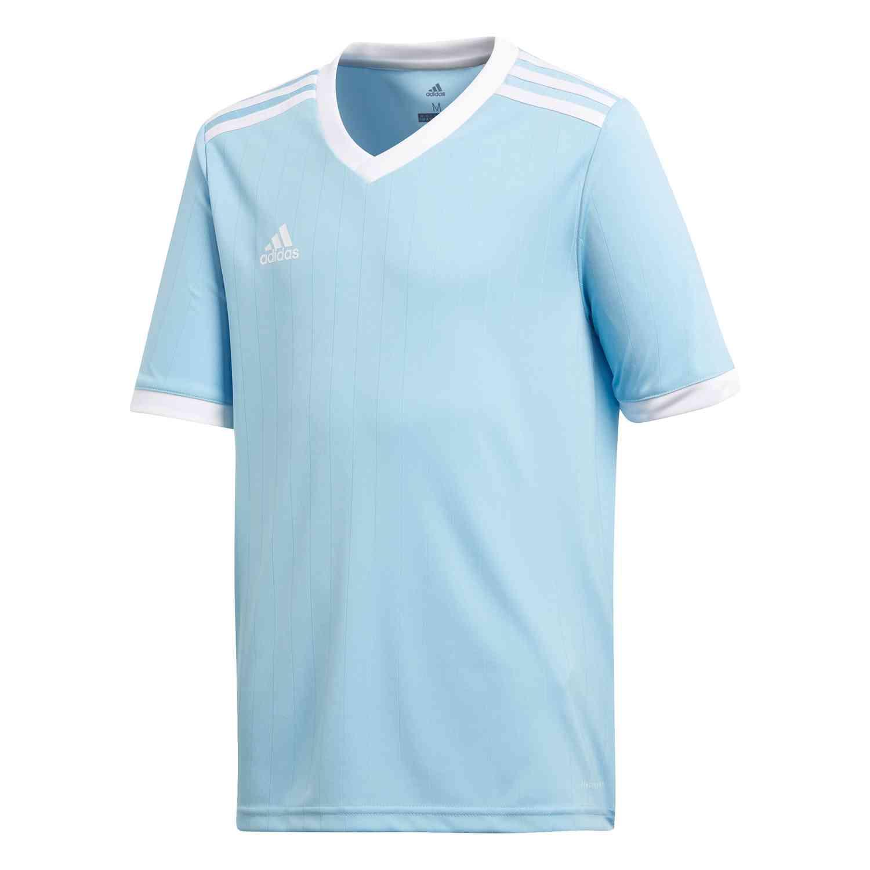 Kids adidas Tabela 18 Jersey - Clear Blue/White - SoccerPro