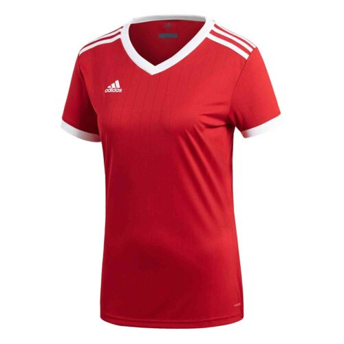 Womens adidas Tabela 18 Jersey – Power Red/White