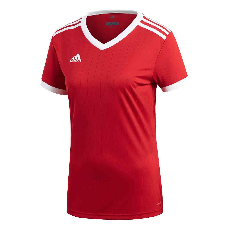 Womens adidas Tabela 18 Jersey - Power Red/White - SoccerPro
