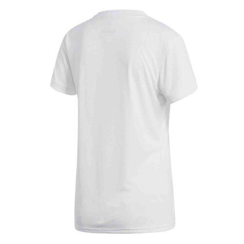 Womens adidas Tabela 18 Jersey – White/White