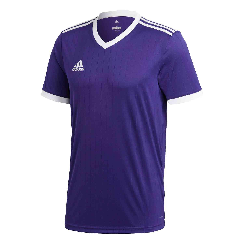 adidas Tabela 18 Jersey - Collegiate Purple/White - SoccerPro