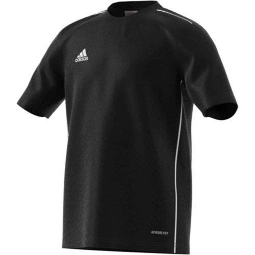 Kids adidas Core 18 Training Jersey – Black/White