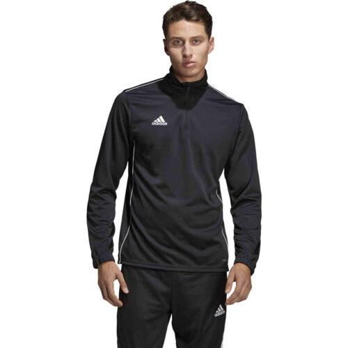 adidas Core 18 1/4 zip Training Top – Black/White