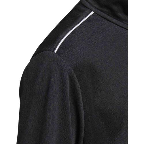 Kids adidas Core 18 1/4 zip Training Top – Black/White