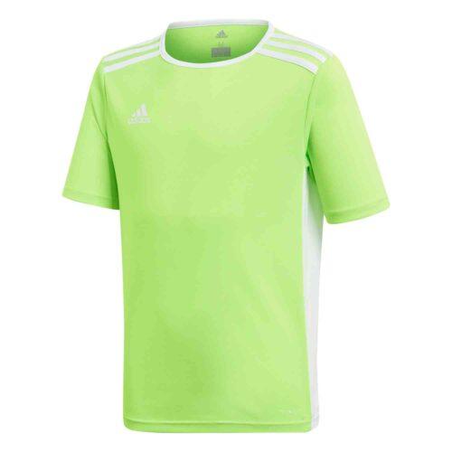 Kids adidas Entrada 18 Jersey – Solar Green/White