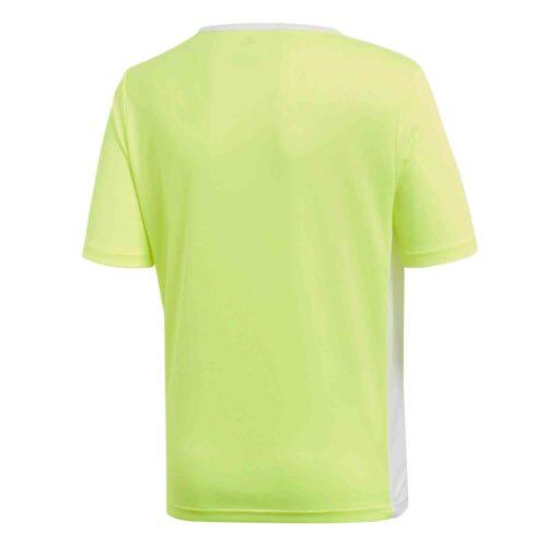 Kids adidas Entrada 18 Jersey – Solar Yellow/White