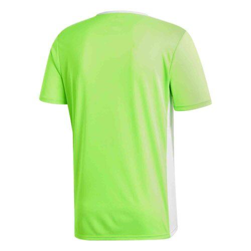 adidas Entrada 18 Jersey – Solar Green/White