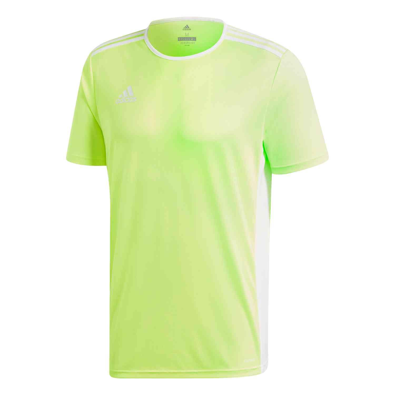 adidas Entrada 18 Jersey - Solar Yellow/White - SoccerPro