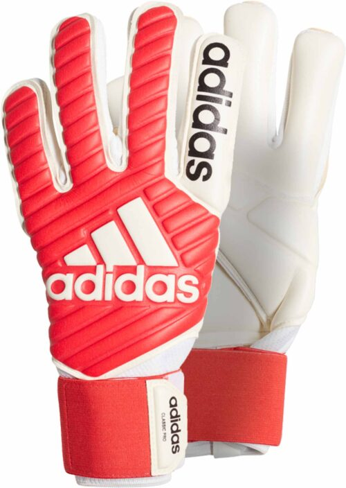 adidas Classic Pro Goalkeeper Gloves – Real Coral/White