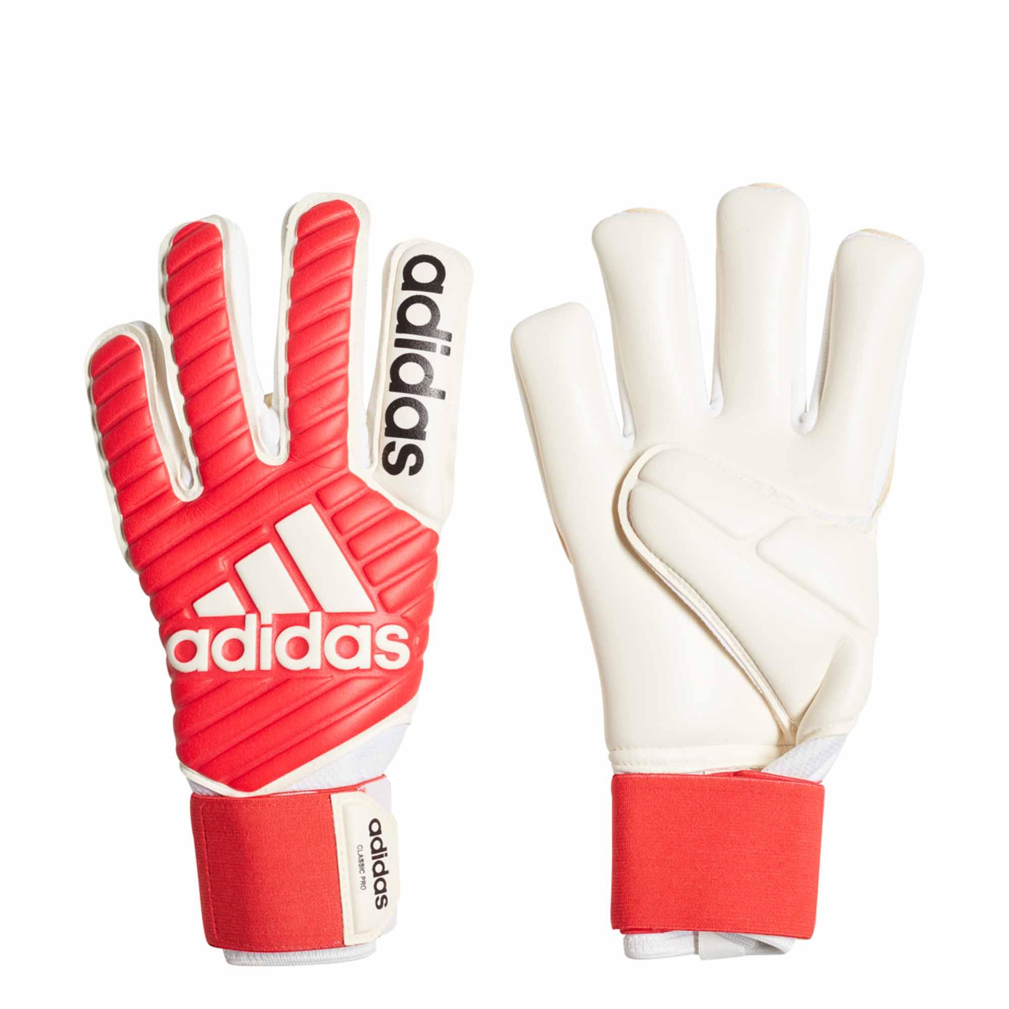 9fcf36e7b adidas Classic Pro Goalkeeper Gloves - Real Coral White - SoccerPro