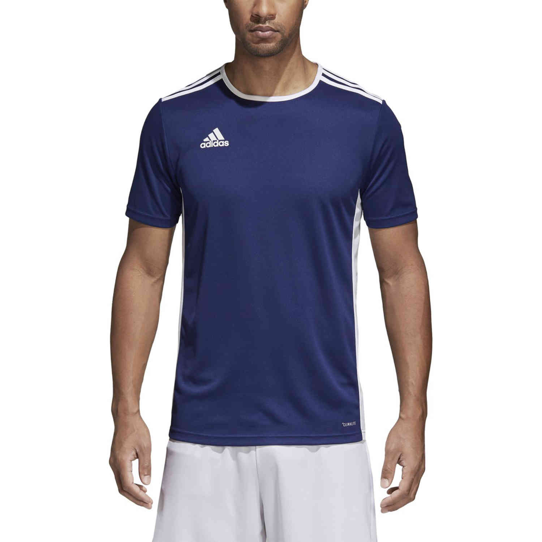 adidas Entrada 18 Jersey - Dark Blue - SoccerPro