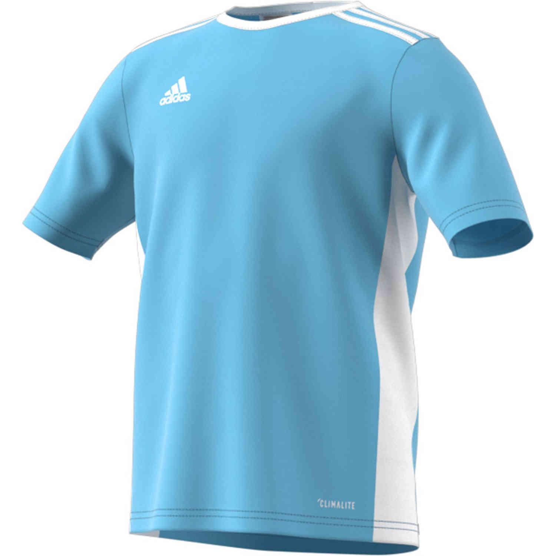 Kids adidas Entrada 18 Jersey - Clear Blue - SoccerPro