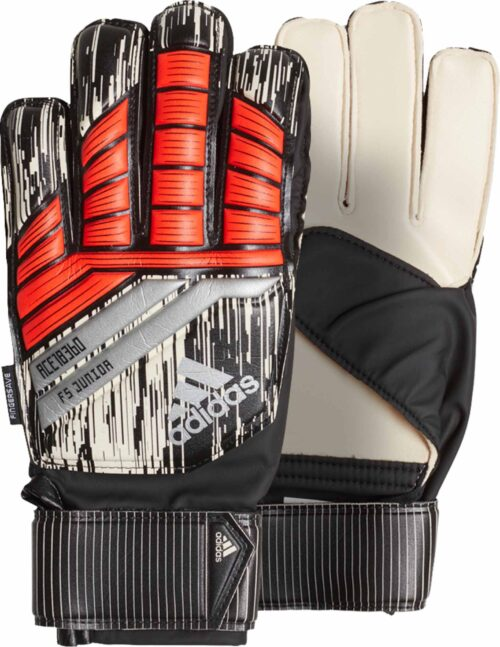 adidas Predator Fingersave Goalkeeper Gloves – Manuel Neuer – Youth – Solar Red/Black
