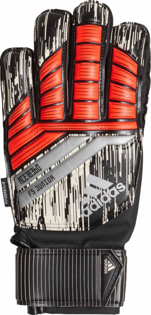 adidas Predator Fingersave Goalkeeper Gloves – Manuel Neuer – Youth – Solar Red/Black