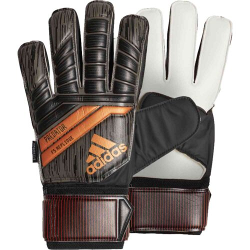 adidas Predator Fingersave Replique Goalkeeper Gloves – Black/Solar Red