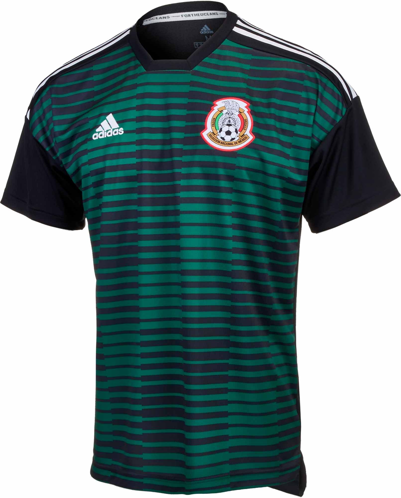 adidas Mexico Pre-Match Jersey - Youth 2018-19 - SoccerPro 65fb81df5ca76