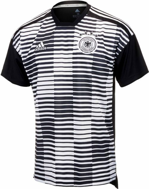 adidas Kids Germany Pre-match Jersey – White & Black
