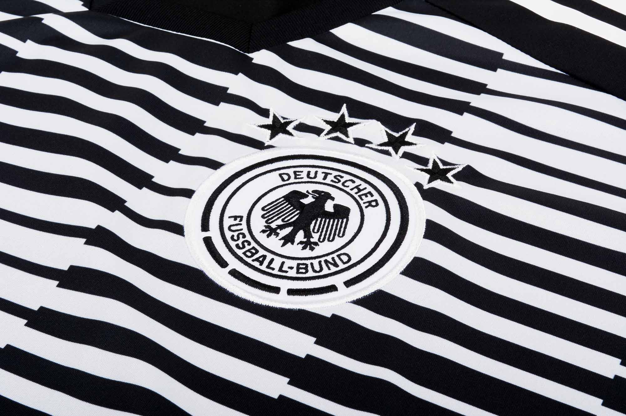 d7d282b69299 adidas Kids Germany Pre-match Jersey - White   Black - SoccerPro