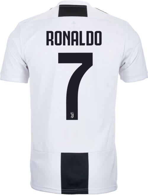 adidas Cristiano Ronaldo Juventus Home Jersey – Youth 2018-19
