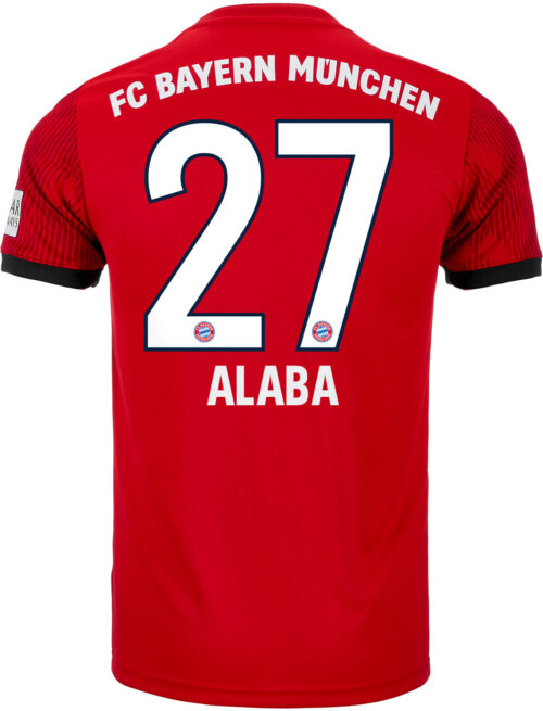 adidas David Alaba Bayern Munich Home Jersey – Youth 2018-19