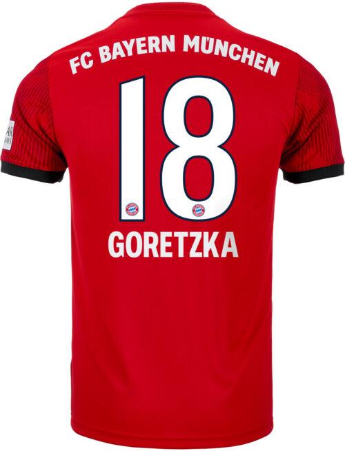 adidas Leon Goretzka Bayern Munich Home Jersey – Youth 2018-19