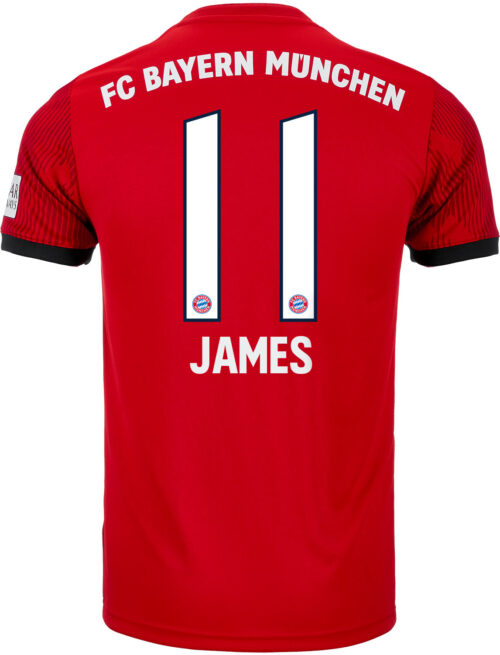 adidas James Rodriguez Bayern Munich Home Jersey – Youth 2018-19
