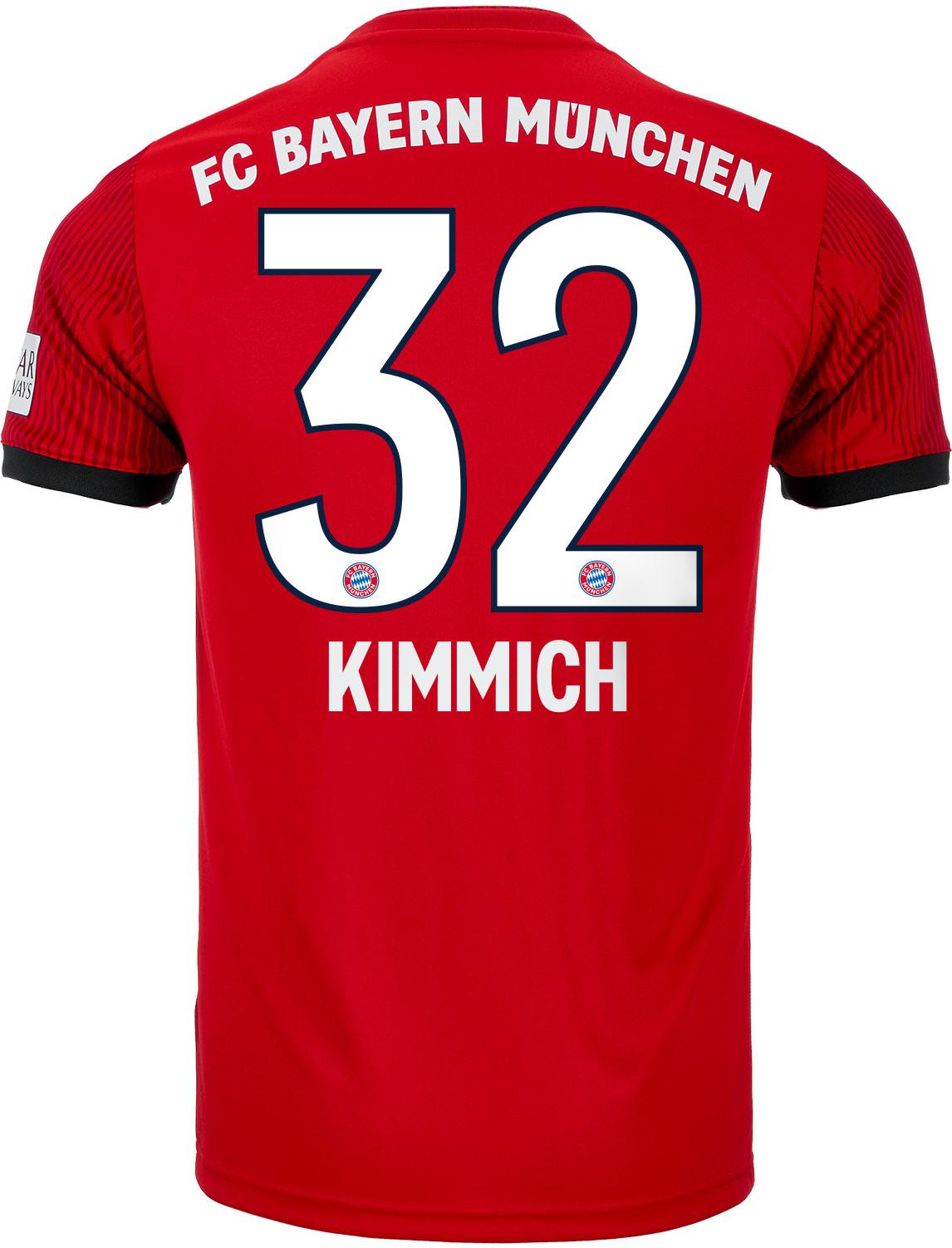 uk availability 8561d d83be adidas Joshua Kimmich Bayern Munich Home Jersey - Youth 2018 ...