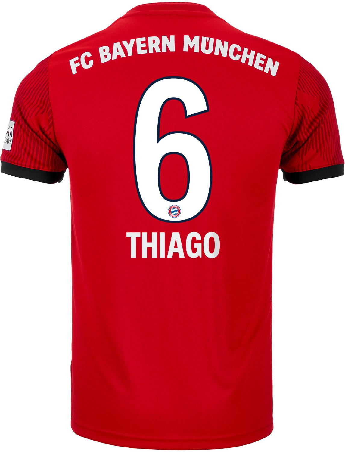 b0dd6af7013 adidas Thiago Bayern Munich Home Jersey - Youth 2018-19 - Cleatsxp