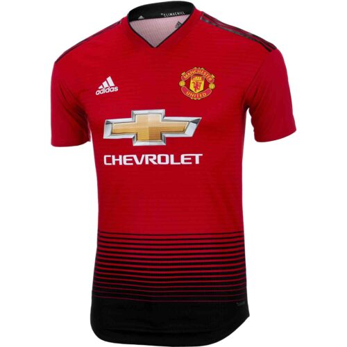 adidas Manchester United Home Authentic Jersey 2018-19
