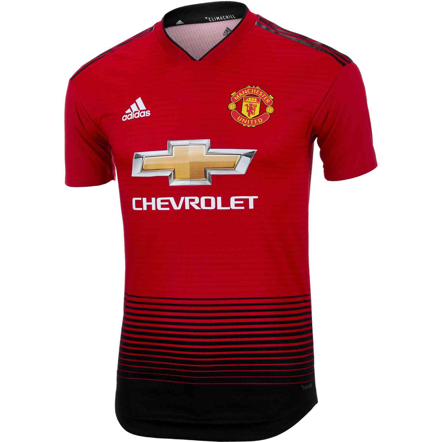 adidas Manchester United Home Authentic Jersey 2018-19 - SoccerPro 8d7db0c1a