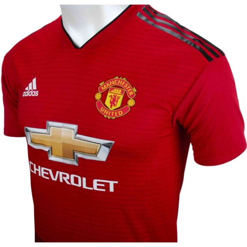 adidas Romelu Lukaku Manchester United Home Authentic Jersey 2018-19