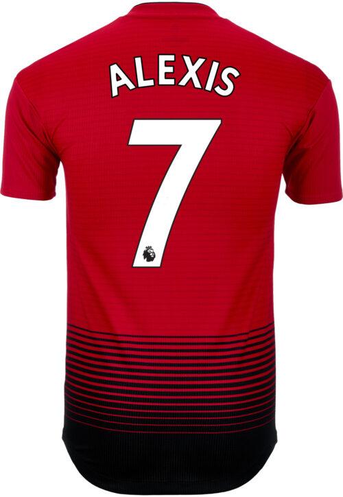 adidas Alexis Sanchez Manchester United Home Authentic Jersey 2018-19
