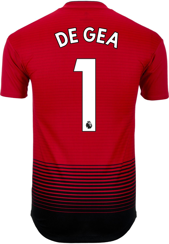 d5d2e4878 2018 19 adidas David De Gea Manchester United Home Authentic Jersey ...
