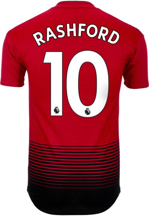 bd95fbd6c adidas Marcus Rashford Manchester United Home Authentic Jersey 2018-19