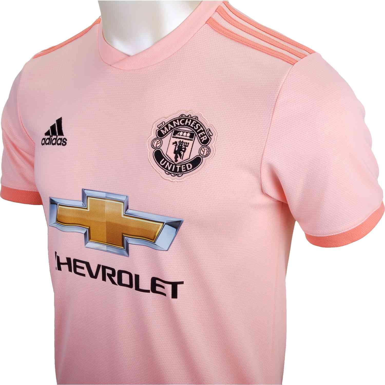hot sale online f9d85 a555f adidas Manchester United Away Jersey 2018-19 - SoccerPro